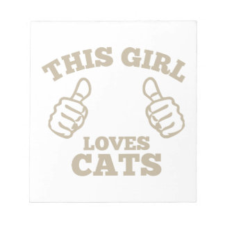This Girl Loves Cats Notepad