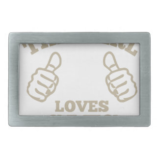 This Girl Loves Cats Rectangular Belt Buckle