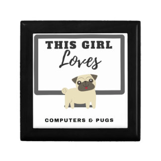 This Girl Loves Computers & Pugs Gift Box