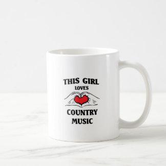 This girl loves Country Music Basic White Mug