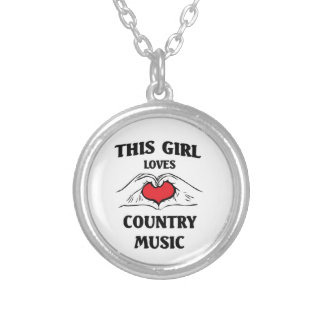 This girl loves Country Music Custom Necklace