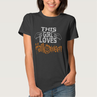 This girl loves Halloween Tee Shirts