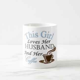This Girl Loves Her Husband and Her Coffee Coffee Mug