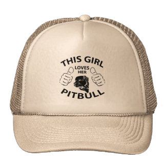 """""""This girl Loves her pitbull"""" black Cap"""