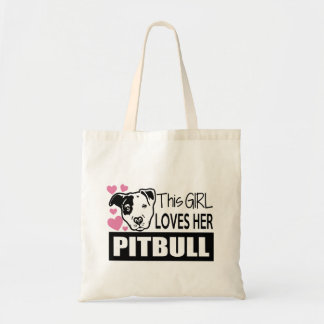 This Girl Loves Her Pitbull Tote Bag