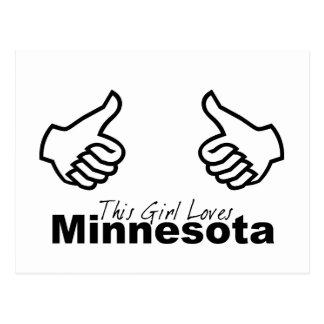 This Girl Loves Minnesota Postcard