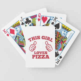 This Girl Loves Pizza Bicycle Playing Cards