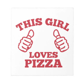 This Girl Loves Pizza Notepad