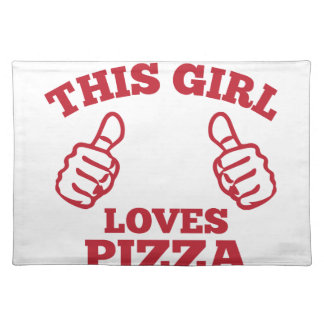 This Girl Loves Pizza Placemat