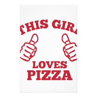 This Girl Loves Pizza Stationery