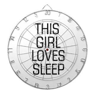 This girl loves sleep dartboard