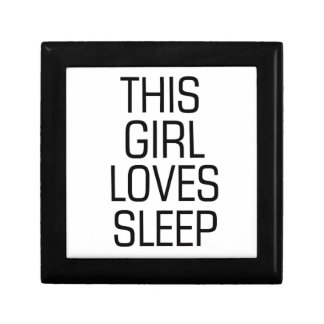 This girl loves sleep gift box
