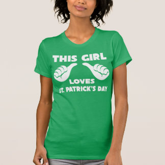 This Girl Loves St Patrick s Day Funny T Shirt