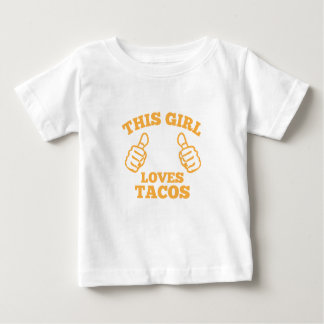 This Girl Loves Tacos Baby T-Shirt