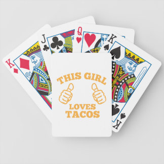 This Girl Loves Tacos Bicycle Playing Cards