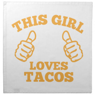 This Girl Loves Tacos Napkin