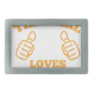 This Girl Loves Tacos Rectangular Belt Buckles