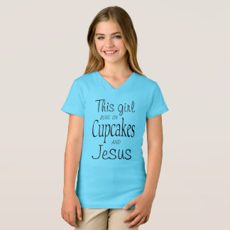 This Girl Runs On Cupcakes And Jesus T-Shirt