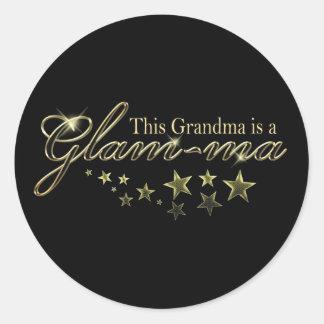 This Grandma is a Glam-ma Round Sticker