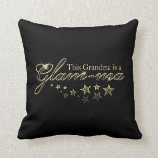 This Grandma is a Glam-ma Throw Pillow