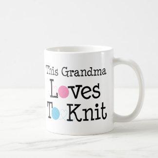 This Grandma Loves To Knit Coffee Mugs