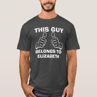 This Guy Belongs To Enter Name Custom T-Shirt