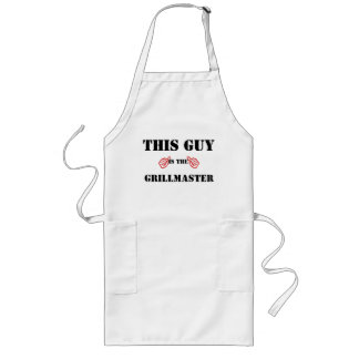 this guy is grillmaster funnysummer bbq grilling long apron