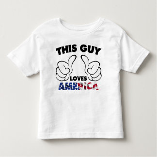 This guy loves america toddler T-Shirt