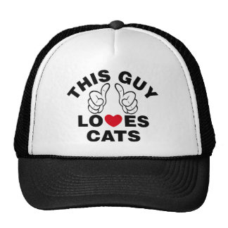 THIS GUY LOVES CATS CAP