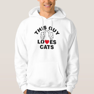 THIS GUY LOVES CATS HOODIE