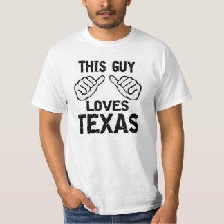 this guy loves texas tshirt