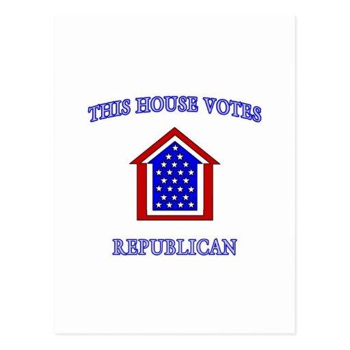 This House Votes Republican Postcard
