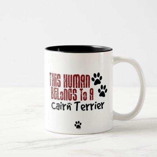 This Human Belongs to a Cairn Terrier Mugs