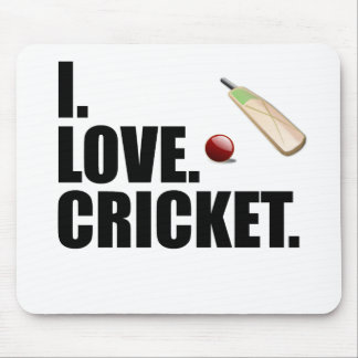 This I Love Cricket design is the perfect gift for Mouse Pad