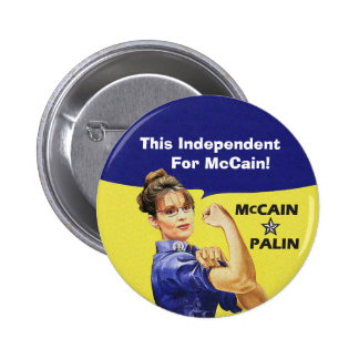This Independent For McCain! 6 Cm Round Badge
