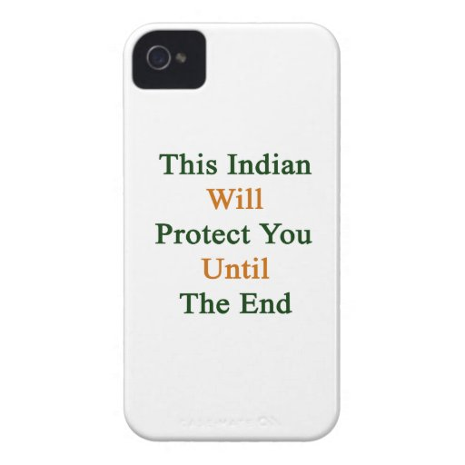 This Indian Will Protect You Until The End iPhone 4 Cover