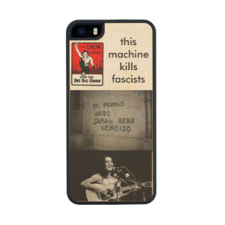 This iPhone Kills Fascists Wood iPhone SE/5/5s Case