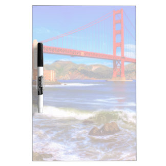 This is a 3 shot HDR image of the Golden Gate Dry Erase White Board