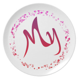 "This is a beautiful and charming ""my plate"". plate"