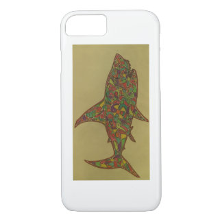 This is a Hand Drawn Piece, its a Shark. iPhone 8/7 Case