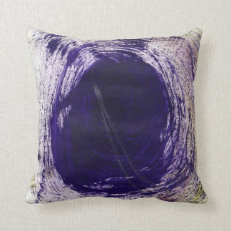 This is a Purple Design Thow Pillow with a Tunnel.