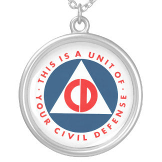 This is a Unit of your civil defense Silver Plated Necklace