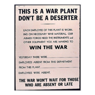 This Is A War Plant, Dont Be A Deserter Personalized Flyer