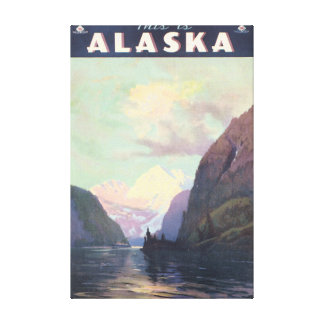 This is Alaska Vintage Travel Poster Artwork Canvas Print