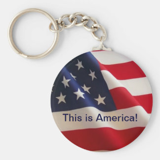 This is America! Basic Round Button Key Ring
