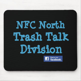 """This is an Official NFC North """"Trash Talk Division Mouse Pad"""