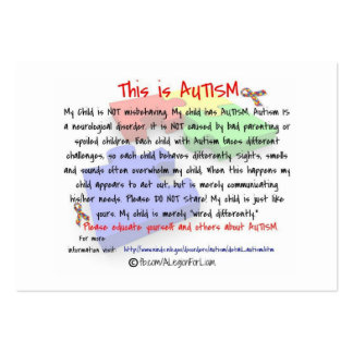 This is Autism Handout Cards Pack Of Chubby Business Cards