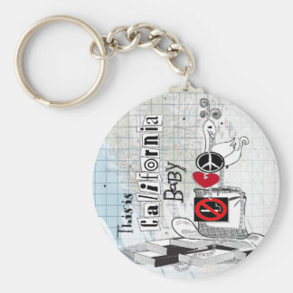 This is California, baby Key Ring