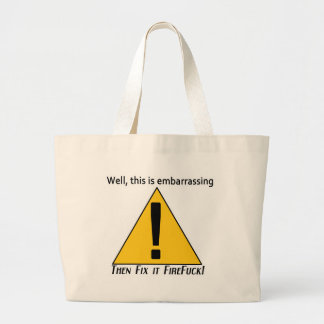 This is Embarrassing Jumbo Tote Bag