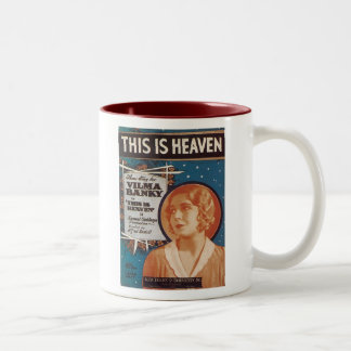This is Heaven Vintage Songbook Cover Two-Tone Mug